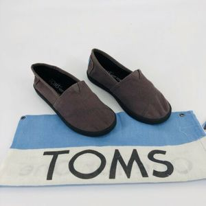 TOMS Flats Youth Size 2 Brown Includes Dust Bag